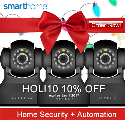 10% OFF Coupon HOLI10 Home Security + Spy Cameras SmartHome.com
