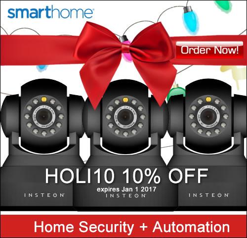 10% OFF Coupon HOLI10 Home Security + Spy Cameras SmartHome.com
