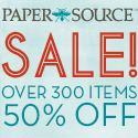 Up to 50% Off at Paper Source