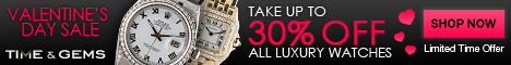 Valentine's Day Sale on Rolex Watches. Shop Time a