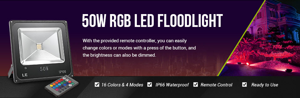 Hot Sale 50W RGB LED Flood Light at lightingever.co.uk