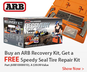 Free Speedy Seal Tire Repair Kit with ARB Recovery Kits and Receive