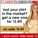 ClassicCloseouts Free Shipping!