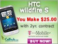 Buy HTC Wildfire S @$9.99