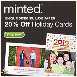 Get 20% off all Minted holiday cards
