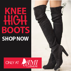 Shop AMIclubwear.com for great deals on fashionable Knee-High Boots!