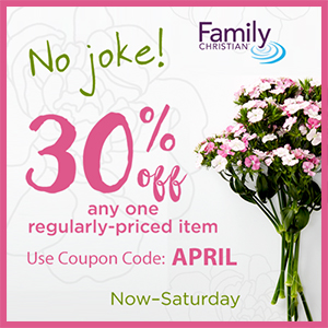 30% off one item with coupon code APRIL