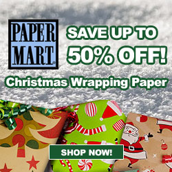 Save up to 50% off Christmas Wrapping Paper!