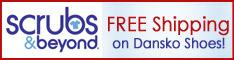 Free Shipping on Dansko Clogs at Scrubs & Beyond!
