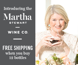 Free Shipping for 12 Bottles or more at Martha Stewart Wine Co.