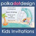 Kids Invitations by Polka Dot Design