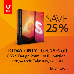 25% off Adobe Design Premium Today Only
