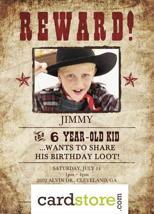 TODAY ONLY! Save 75% on Personalized, Printed Birthday Invites