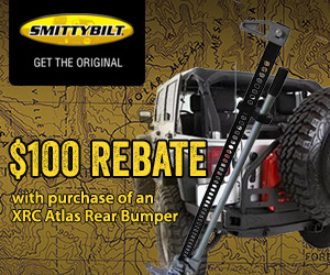 Buy an XRC Atlas Rear Bumper and get a $100 mail in rebate