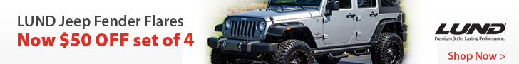 Save $50 on set of 4 Lund PC Fender Flares. Mail in rebate.