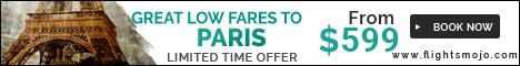 Great Fares to Paris at Flights Mojo