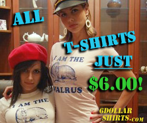 At 6 Dollar Shirts all T-Shirts are just $6.00.  Browse The Large Selection and Shop Now!