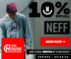 Take an extra 10% OFF on all Volcom gear at The-House.com! Use code: volcom10 (ends 3/31/16)