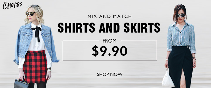 Shirts And Skirts Only From $9.90 In Choies,Shop Now