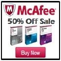 McAfee 50% Off Sale