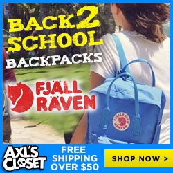 Shop Fjallraven Backpacks for Back To School at AxlsCloset.com & Get Free Shipping!