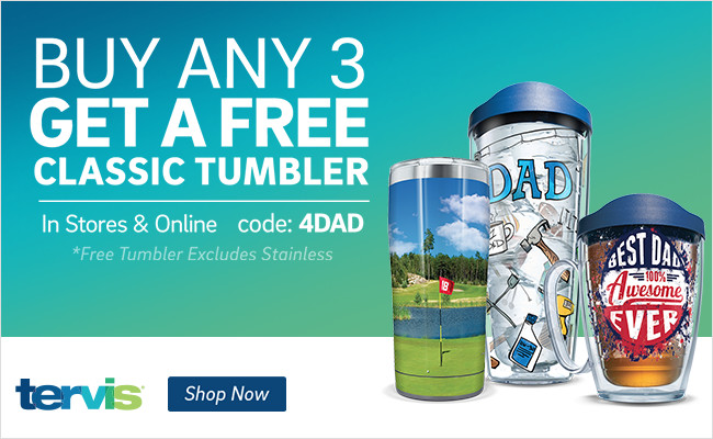 Father's Day - Buy 3 Drinkware Items (Includes Stainless), Get a FREE Classic