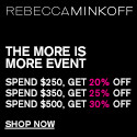 deals on Rebecca Minkoff: Extra 20% Off $250+ Order