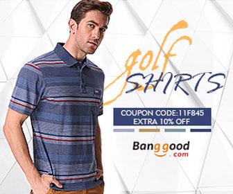 10% OFF Coupon for Men Golf Shirts