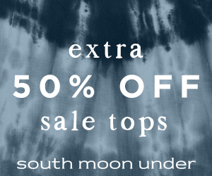 Extra 50% off sale tops