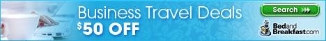 $50 Off Business Travel at BedandBreakfast.com