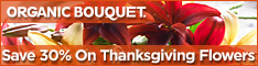 Save 30% on Thanksgiving Flower Gifts