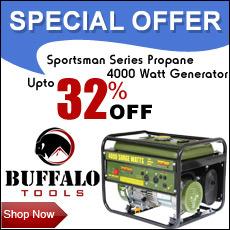 Lowest Price Guarantee on Buffalo Tools Sportsman Power Generator