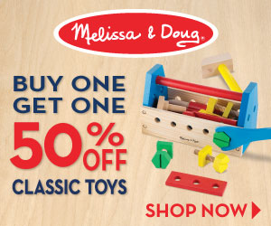 Melissa & Doug BOGO Sale On Classic Toys - Buy One - Get One 50% Off USING CODE: DECBOGO!
