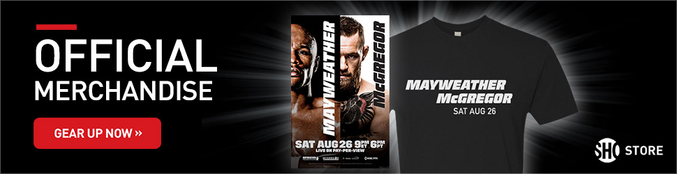 Shop Mayweather vs. McGregor Gear at the Official Showtime Store Now!