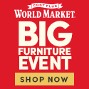 Get up to 60% off ALL Furniture at World Market's Big Furniture Event
