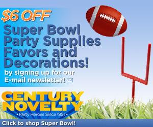 Super Bowl Fun at Century Novelty