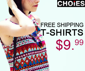 Choies t-shirts $9.99, free shipping worldwide