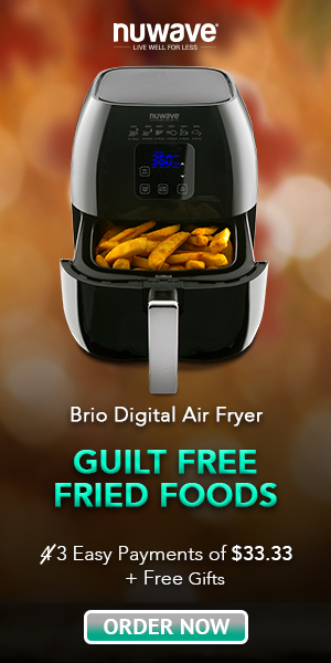 NuWave Brio Healthy Digital Air Fryer Only 3 Easy Payments of $33.33 + Free Gifts