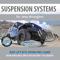 Pro Comp Truck and Jeep Suspension Systems now 10% OFF!