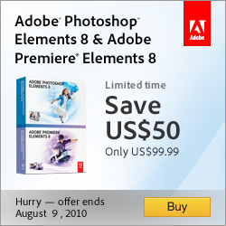 Save $50 on Adobe Photoshop & Premiere Elements 8
