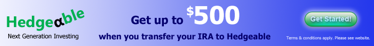 Transfer an IRA to Hedgeable & get up to $500.