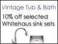 ALWAYS Free Ground Shipping - Shop VintageTub.com!