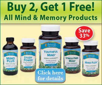 Mind and Memory Products - buy 2 get 1 free