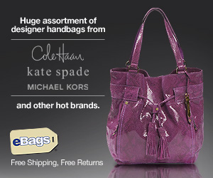 Huge assortment of designer handbags at eBags