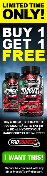 FREE Hydroxycut Hardcore Elite - MuscleTech