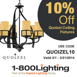 Is It Spring Yet Sale! Take 10% Off Quoizel Ceiling Lighting with code QUOIZEL10 + Free Shipping ove