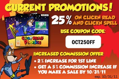 Save 25% on ClickN READ and ClickN SPELL