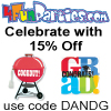 Save 15% on all Party Supplies!