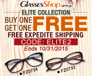 Buy one, get one free from the Elite Collection at GlassesShop.com! Code: ELITE2 ends 10/31