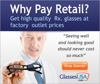 Never pay retail again on eyeglasses